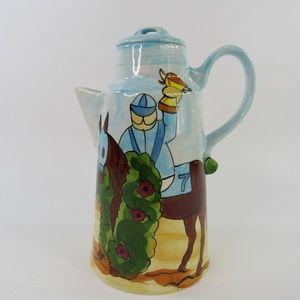 """Vintage Ceramic Milk Pitcher Handmade 10"""" x 5.5"""" H"""